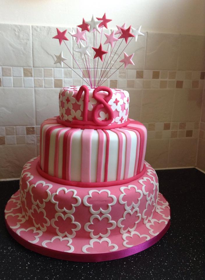 3 Tier Two Little Cake Ladies